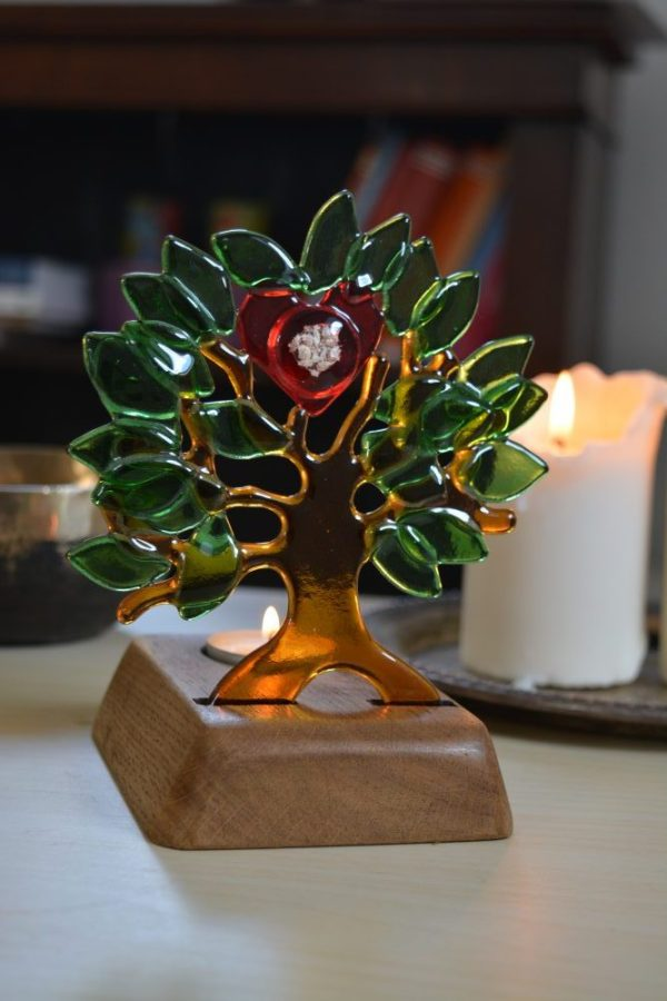 The memory tree memorial glass art